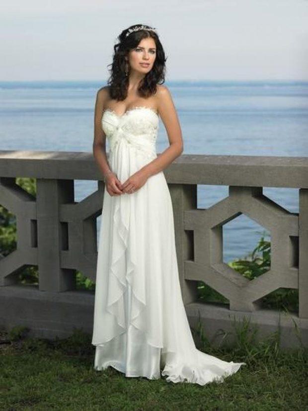 свадебные платья в пол: в стиле ампир