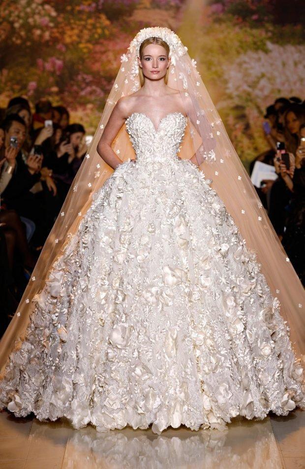 свадебные платья в пол: принцесса