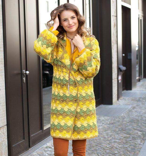 вязаное пальто в моде осень зима 2019 2020