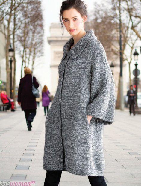 модное вязаное пальто осень зима 2018 2019