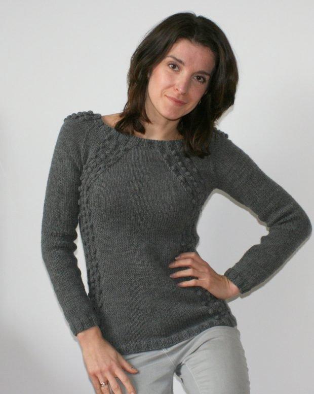 короткий вязаный свитер мода осень зима 2019 2020
