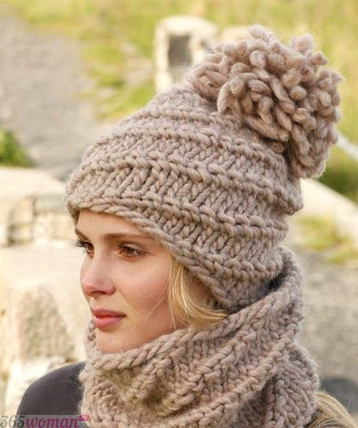 вязанные шапки мода осень зима 2018 2019