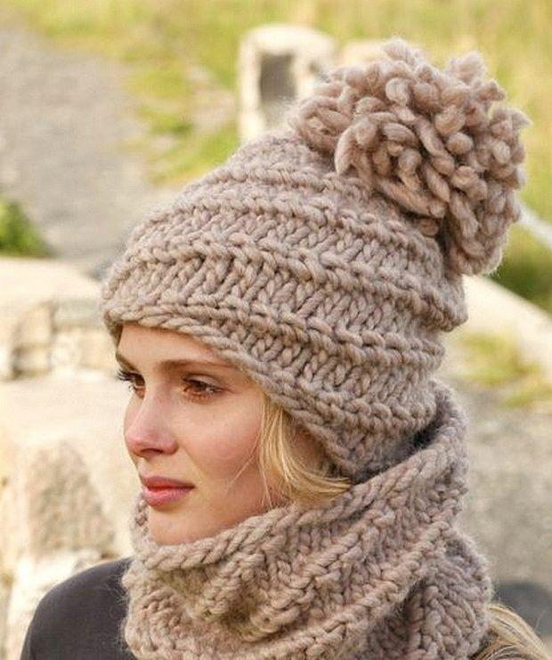 вязанные шапки мода осень зима 2019 2020