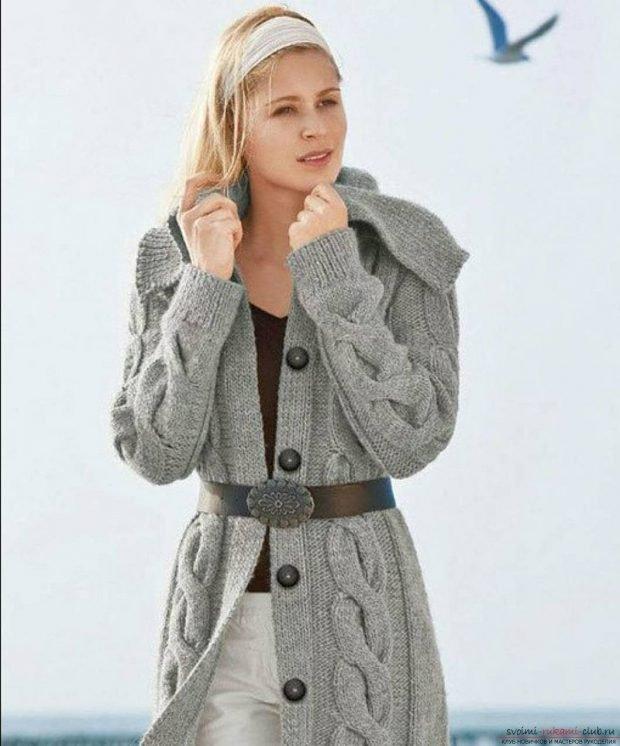 серый кардиган мода осень зима 2019 2020