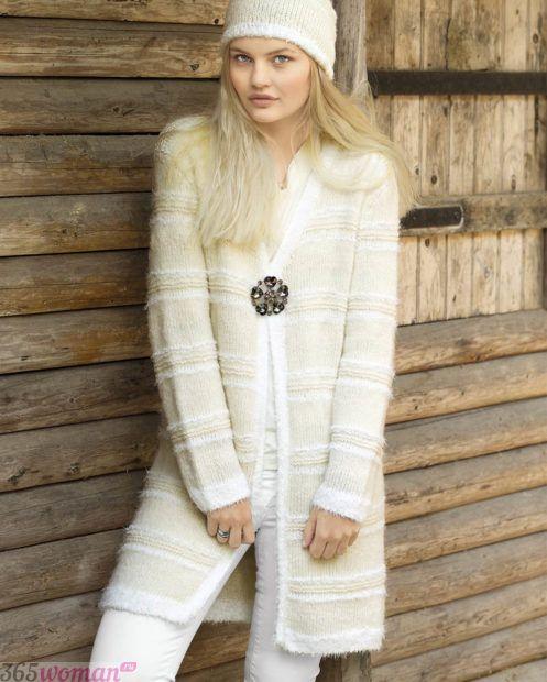 теплый вязаный наряд модный осень зима 2018 2019