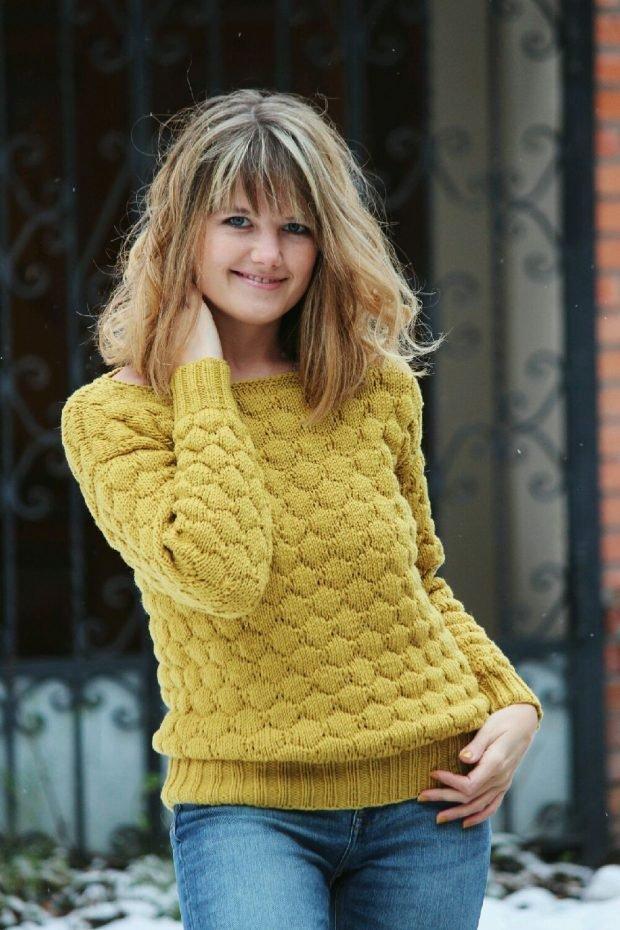 яркий вязаный свитер мода осень зима 2019 2020