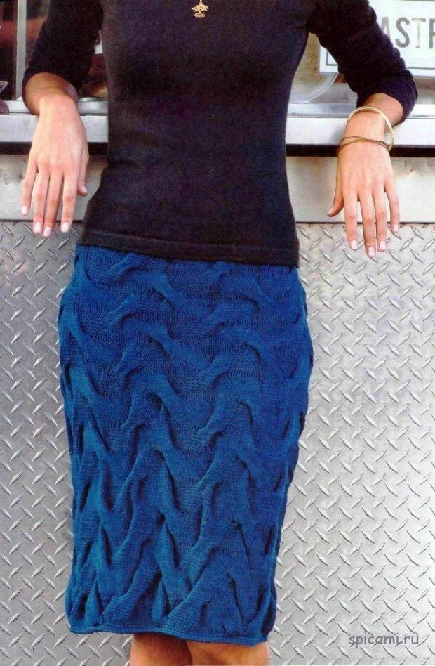 модные вязаные юбки осень зима 2019 2020