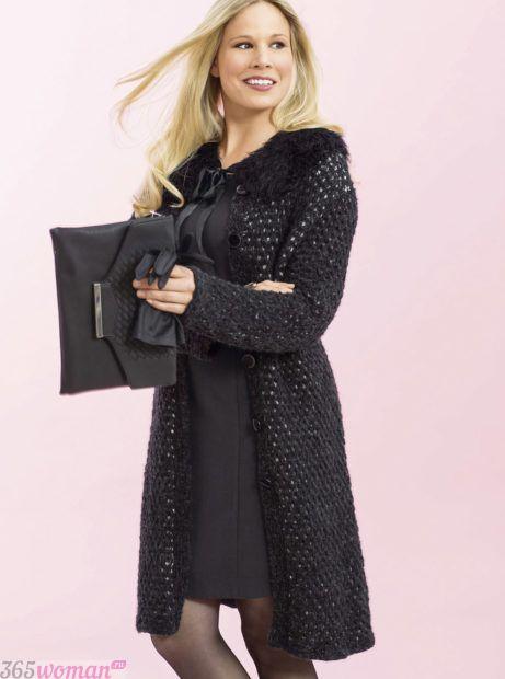 стильное вязаное пальто мода осень зима 2018 2019