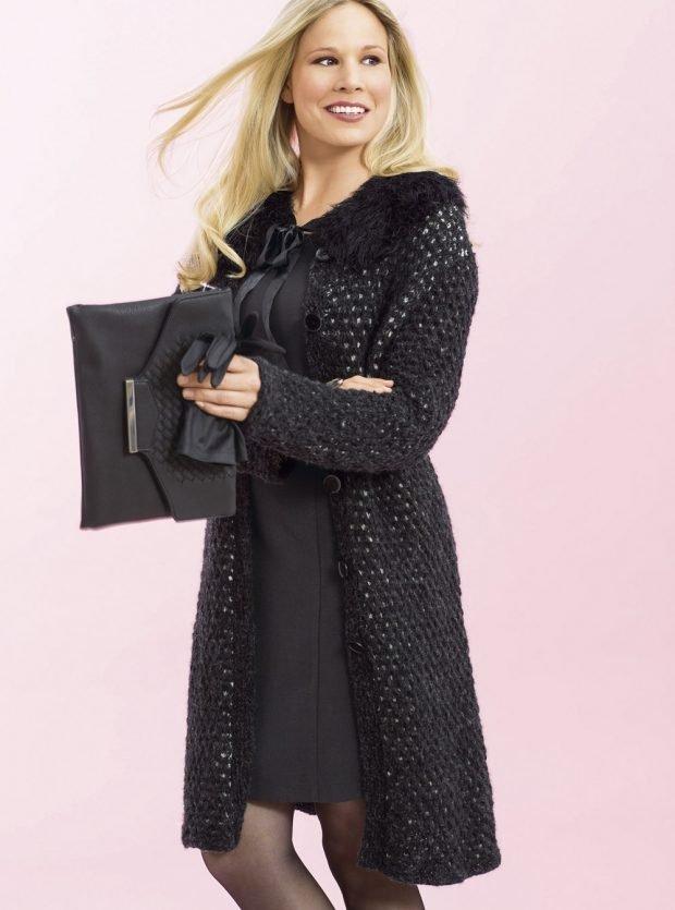 стильное вязаное пальто мода осень зима 2019 2020