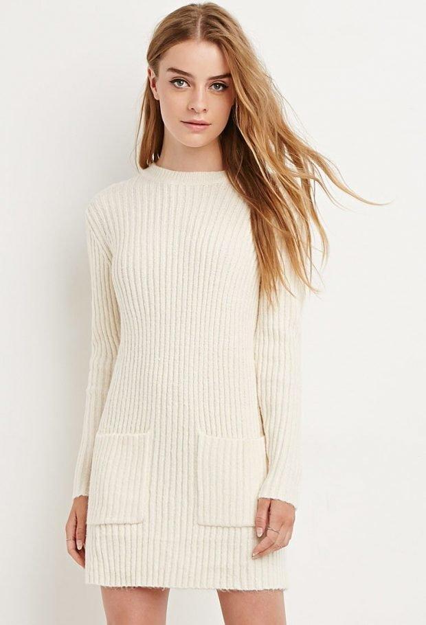 стильное вязаное платье стильное осень зима 2019 2020