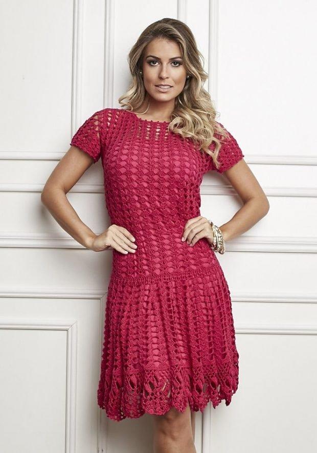 вязаные платья мода осень зима 2019 2020