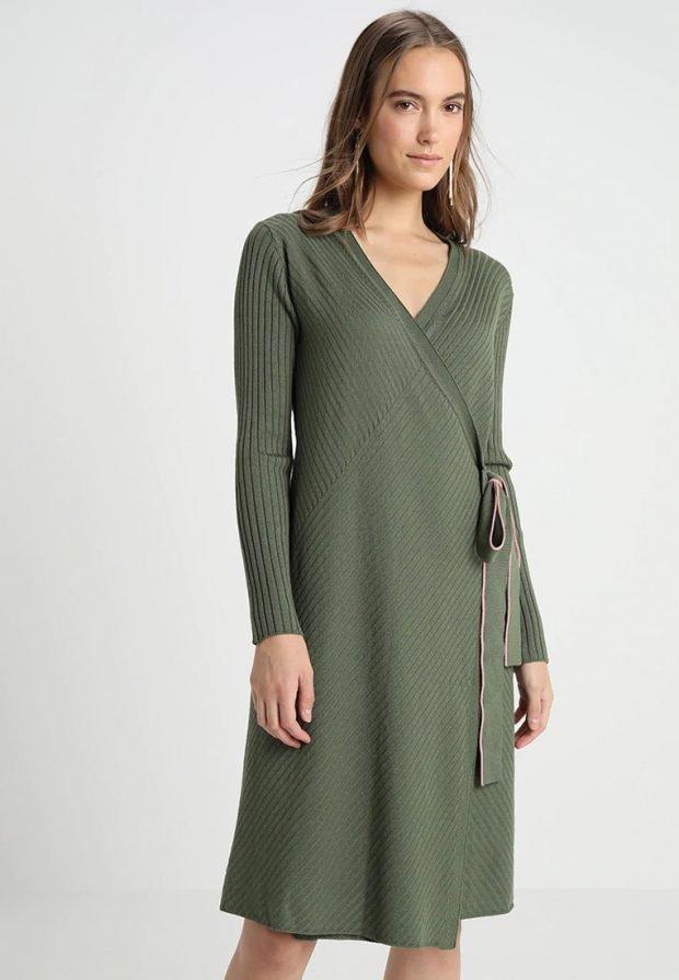 Вязаные платья крючком 2019 2020: хаки