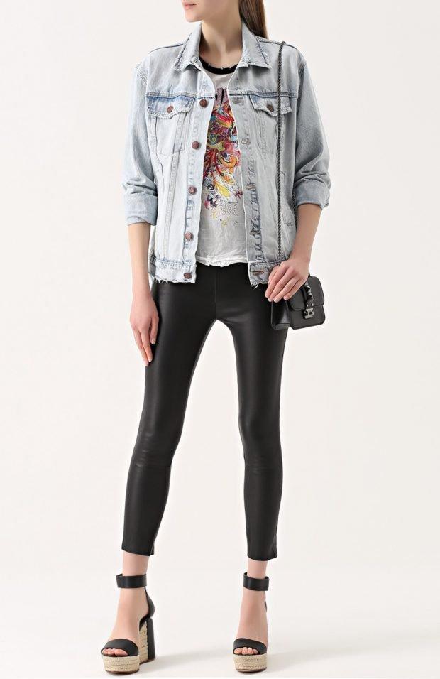 узкие черные брюки для базового гардероба