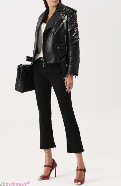 укороченные черные брюки для базового гардероба 2018