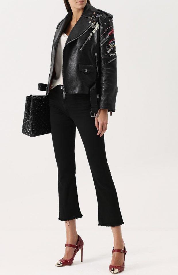 укороченные черные брюки для базового гардероба