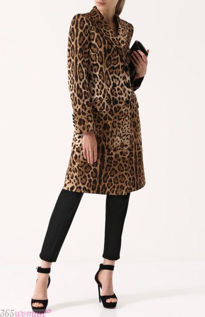 пальто леопардовый принт для базового гардероба 2018