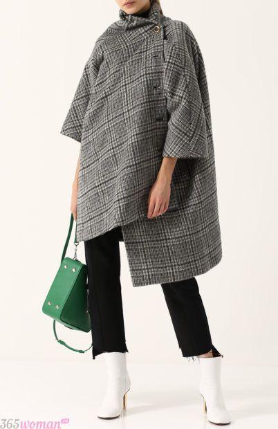 асимметричное пальто для базового гардероба 2018