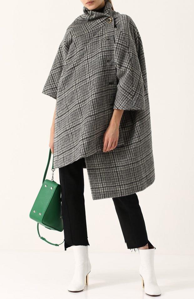 асимметричное пальто для базового гардероба