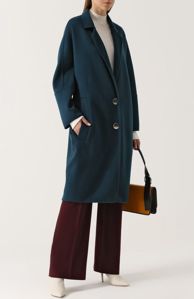 пальто средней длины