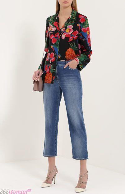 широкие укороченные джинсы для базового гардероба 2018