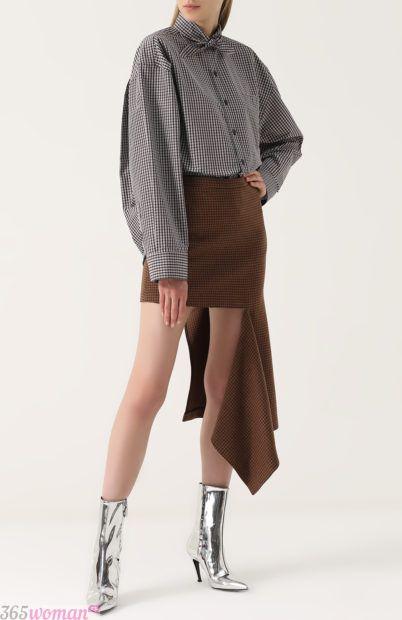 асимметричная юбка для базового гардероба 2018