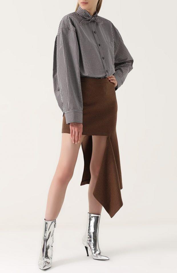 асимметричная юбка для базового гардероба