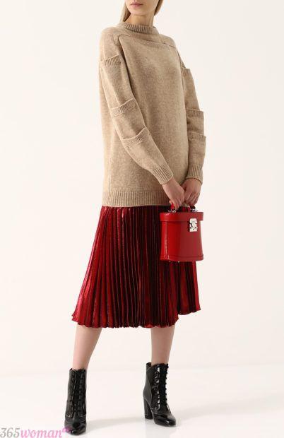 бархатная юбка миди для базового гардероба 2018
