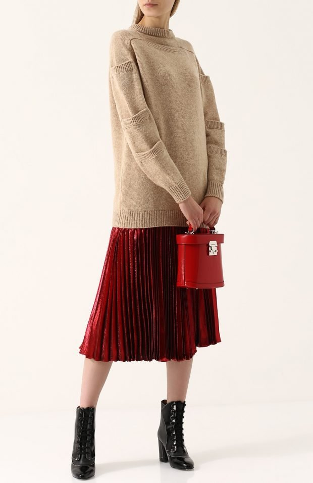 бархатная юбка миди для базового гардероба