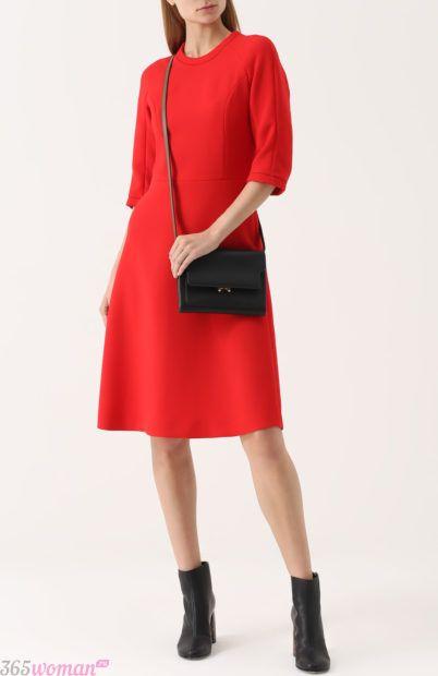 красное платье для базового гардероба 2018