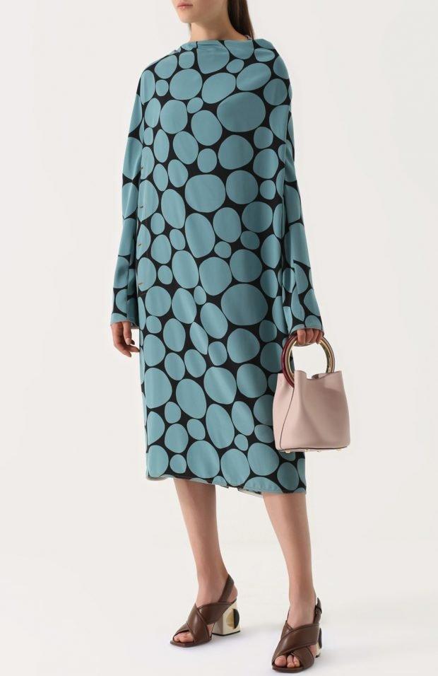 платье оверсайз принт для базового гардероба