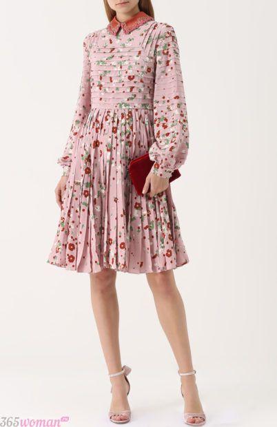 платье цветочный принт для базового гардероба 2018