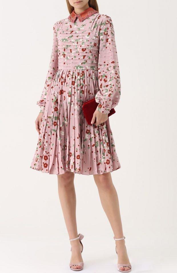 платье цветочный принт для базового гардероба