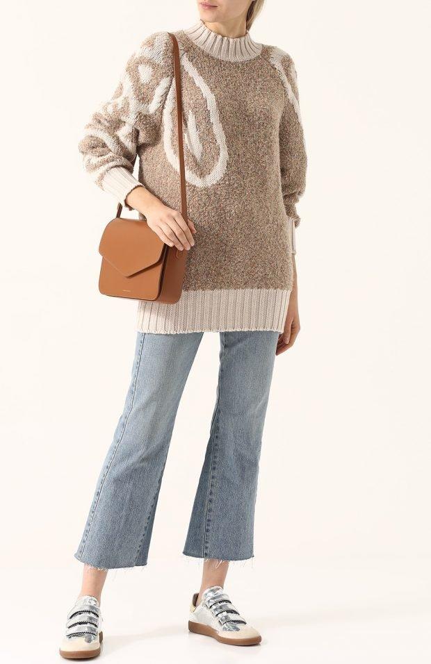 бежевый свитер для базового гардероба