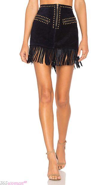 модные юбки с бахромой