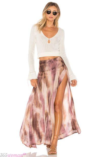 летние юбки макси