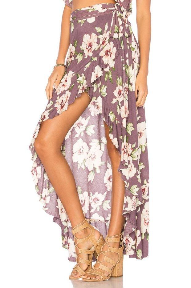летние юбки с запахом