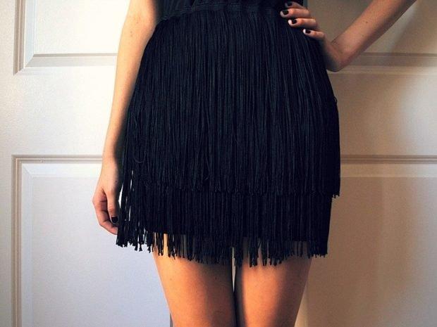 летние юбки с бахромой