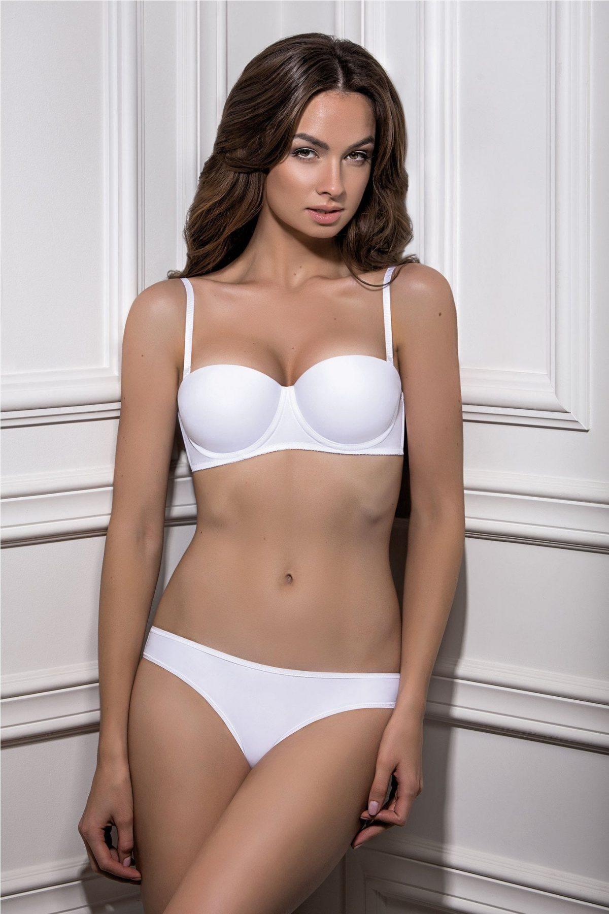 комплект сексуального нижнего белья белого цвета, классический