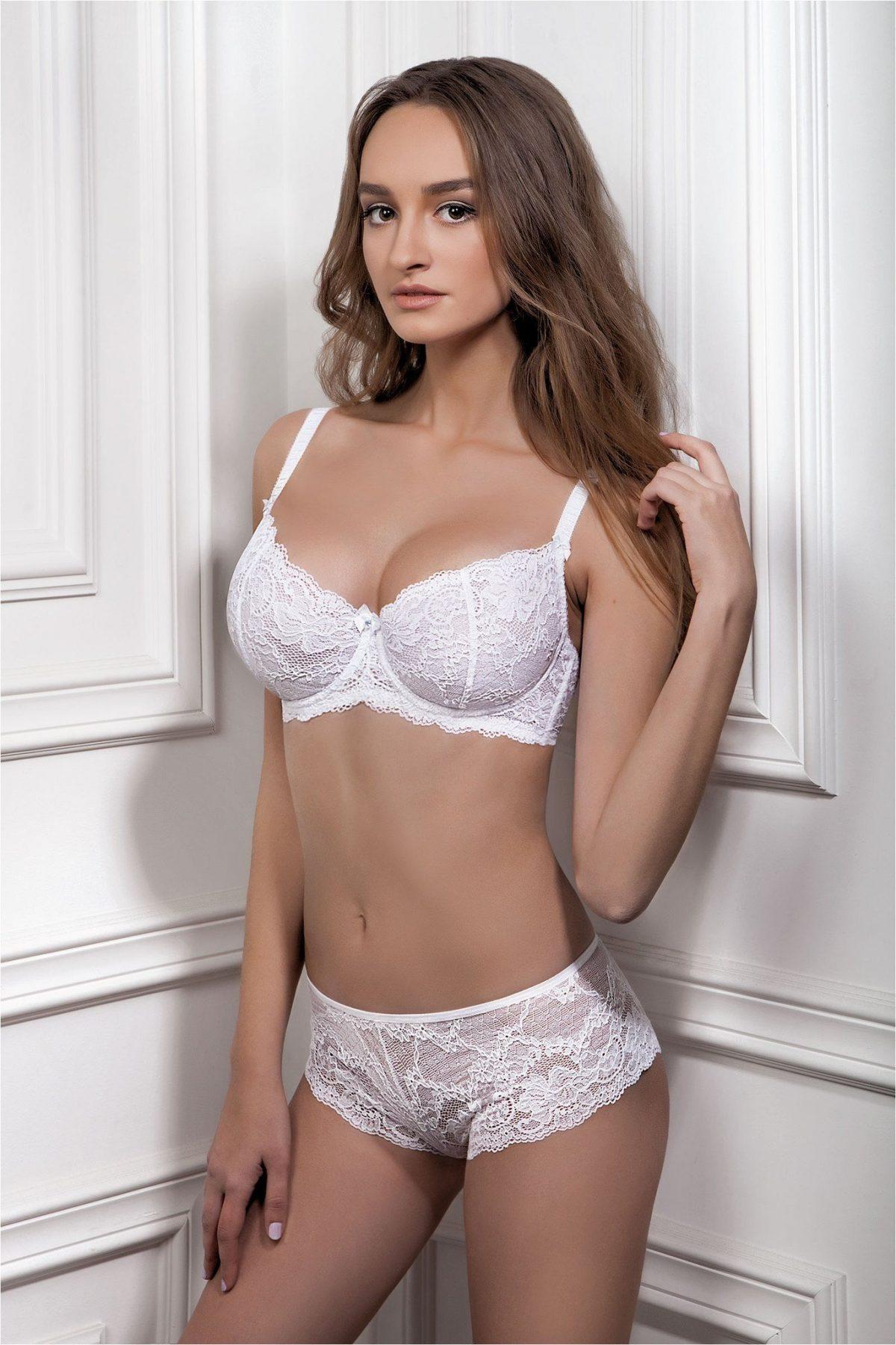 комплект женского белого сексуального нижнего белья