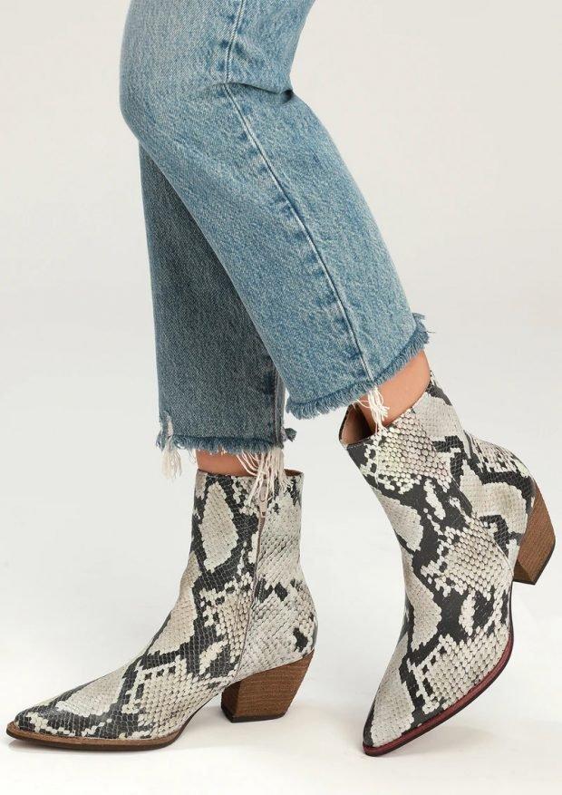 Модные туфли осень-зима 2020 2021: кожа змеи