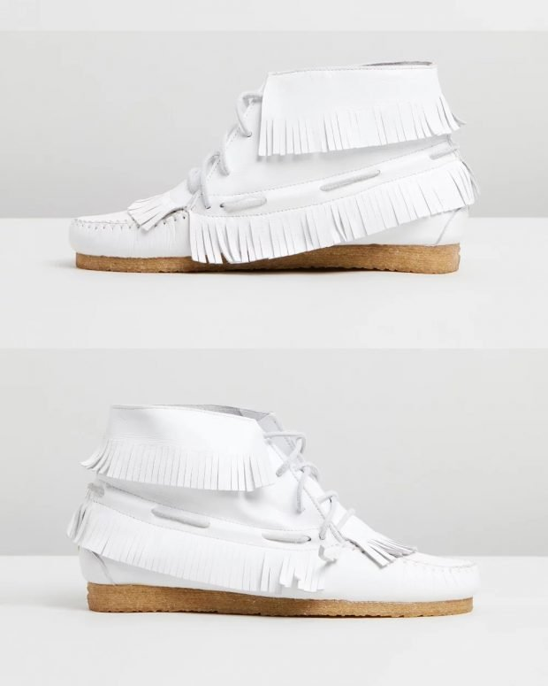 белые на шнурках пробковая подошва