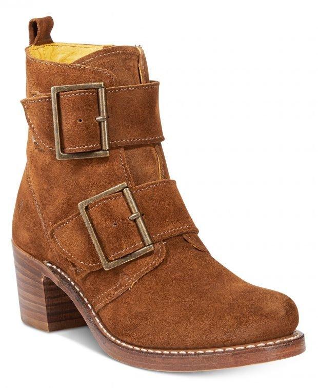 женские ботинки осень-зима 2021 2022: коричневые на застежках