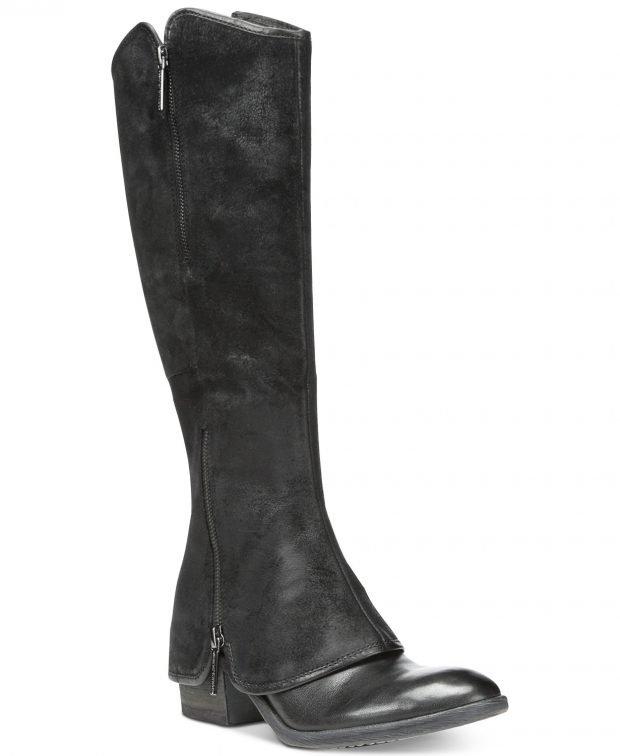 высокие сапоги черные