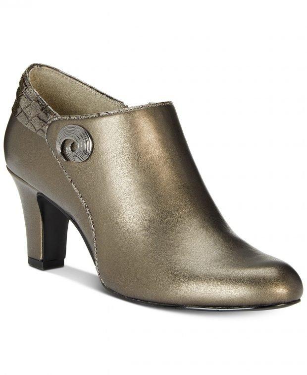 бронзовые на каблуке