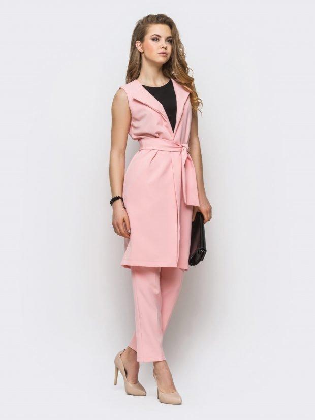 розовые платья без рукавов