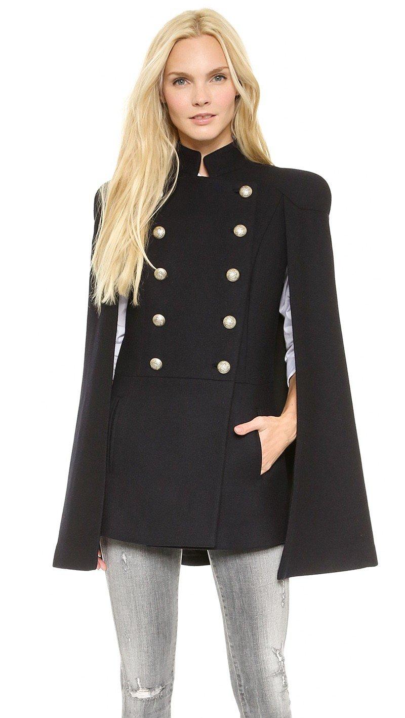 удлиненный пиджак в стиле милитари женский 2018