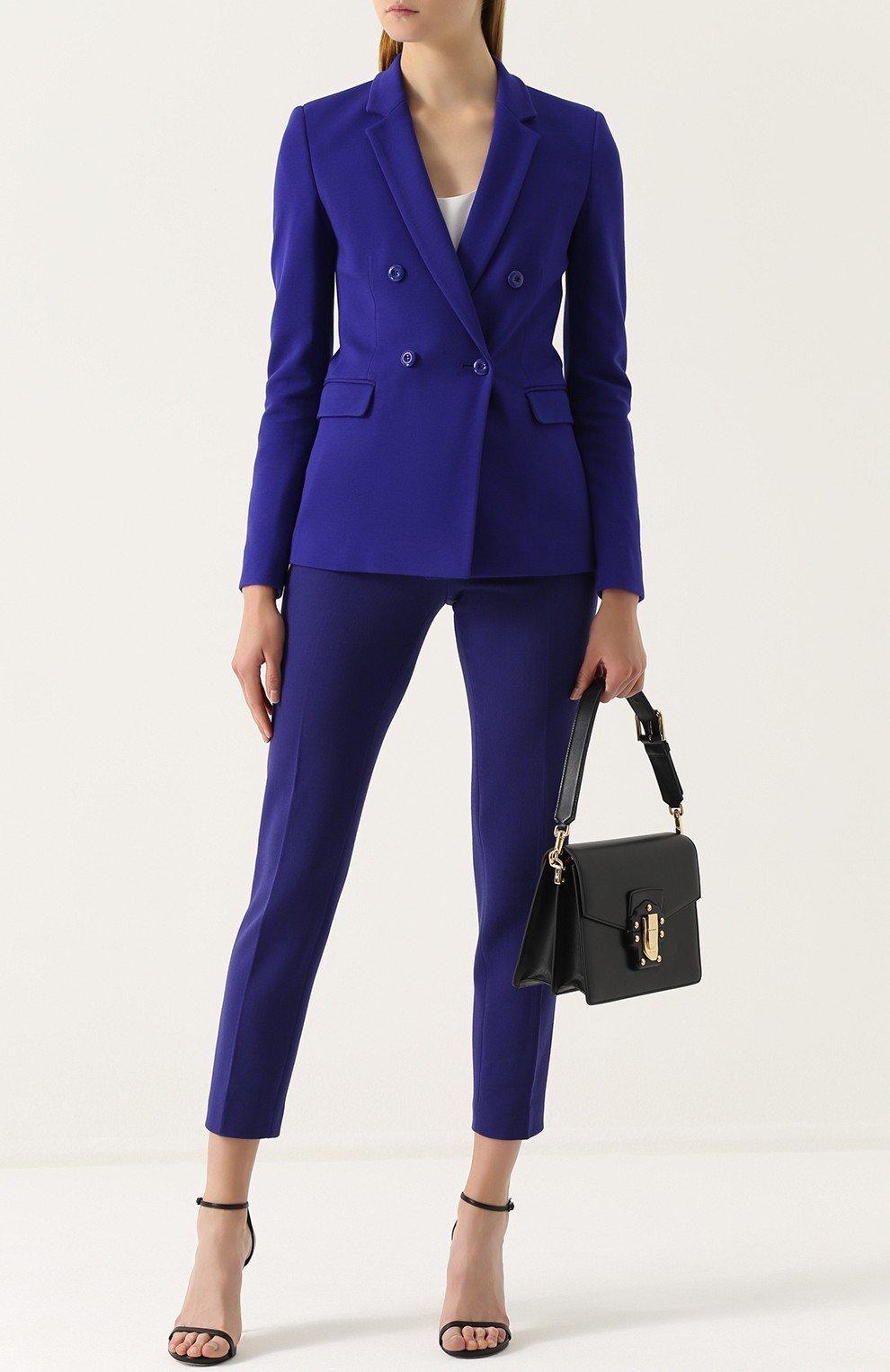 синий удлиненный пиджак женский 2018