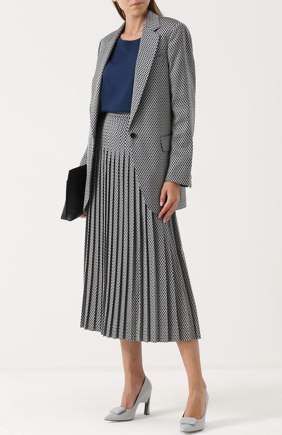 стильный серый удлиненный пиджак женский 2018 года