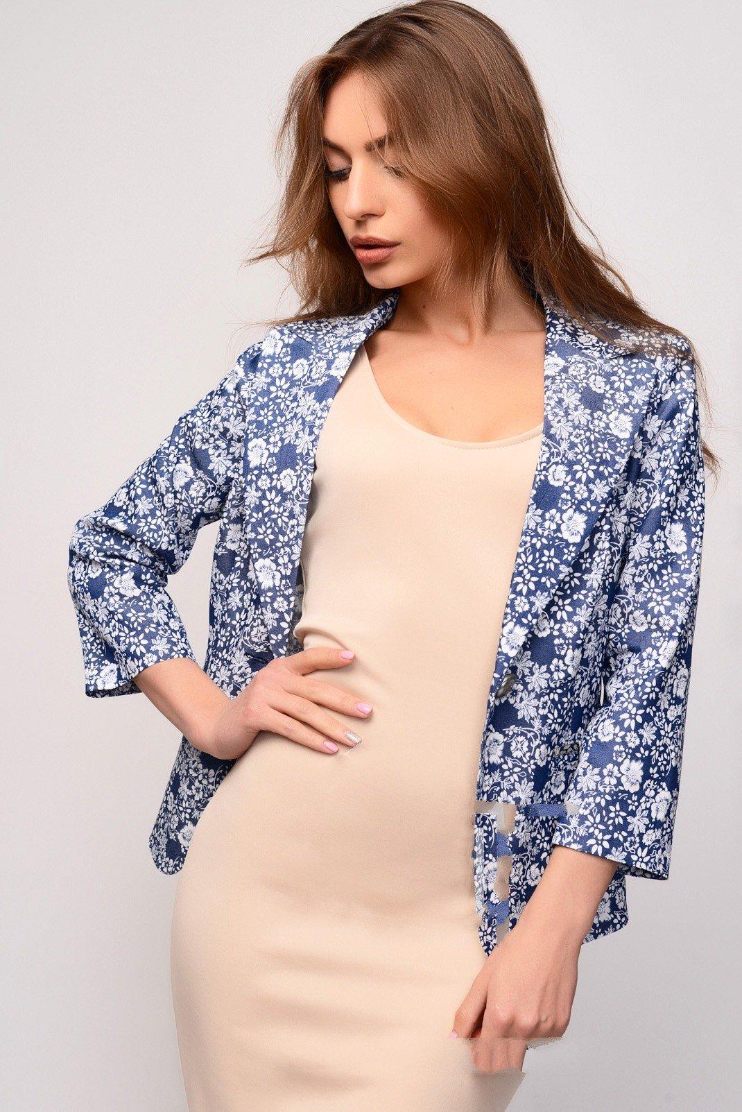 пиджак женский модный в 2018 году цветочный принт фото новинки модные тенденции