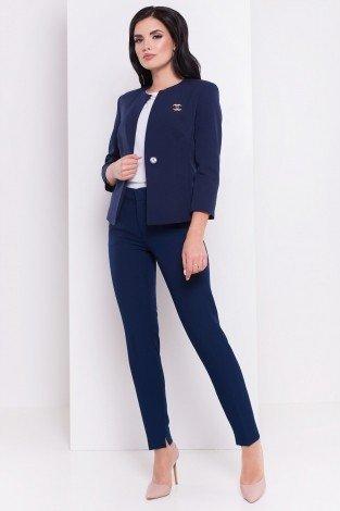 модные женские пиджаки 2020 2021: синий короткий